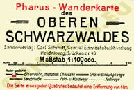 Pharus-Plan Schwarzwald 1924 Legende