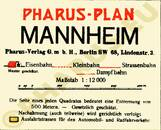 Pharus-Plan Mannheim 1911 Legende