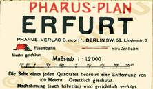 Pharus-Plan Erfurt 1923 Legende