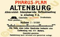 Pharus-Plan Altenburg 1912 Legende