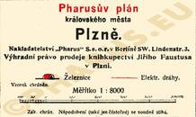 Pharus-Plan Pilsen 1910 Legende