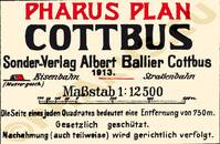 Pharus-Plan Cottbus 1913 Legende