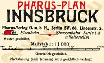 Pharus-Plan Innsbruck 1921