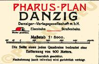 Pharus-Plan Danzig 1925 Legende