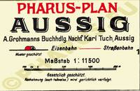 Pharus-Plan Aussig 1921 Legende