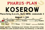 Pharus-Plan Koserow 1925 Legende