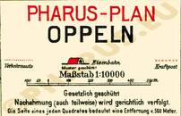 Pharus-Plan Oppeln 1920 Legende