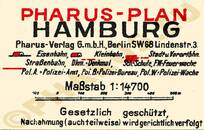 Pharus-Plan Hamburg 1924, Innenstadt Legende