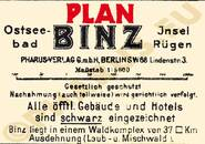 Pharus-Plan Binz 1924 Legende