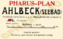 Pharus-Plan Ahlbeck 1912 Legende