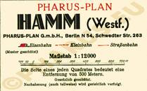 Pharus-Plan Hamm 1933 Legende