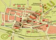 Pharus-Plan Bad Blankenburg 1928 Stadtzentrum