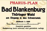Pharus-Plan Bad Blankenburg 1928 Legende
