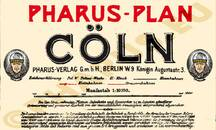Pharus-Plan Köln 1905 Legende