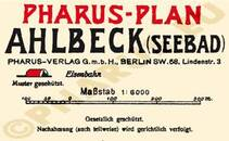 Pharus-Plan Ahlbeck 1920 Legende