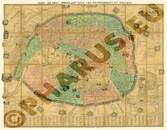 Pharus-Plan Paris 1863 Gesamtplan