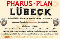 Pharus-Plan Lübeck 1911 Legende