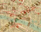 Pharus-Plan London 1910 Ausschnitt Tower-Bridge