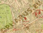 Pharus-Plan London 1910 Ausschnitt Regenst Park