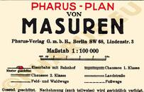 Pharus-Plan Masuren 1925, Mazurÿ (1925) Legende