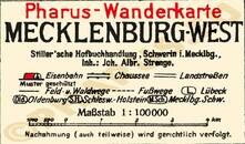 Pharus-Plan Mecklenburg West 1920 Legende