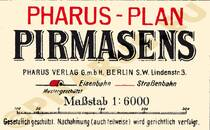 Pharus-Plan Pirmasens 1912 Legende