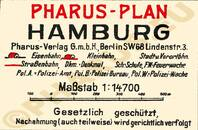 Pharus-Plan Hamburg 1927 Legende