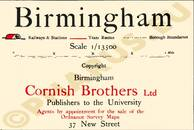 Pharus-Plan Birmingham 1913 Legende