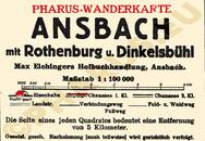 Pharus-Plan Ansbach 1925 Legende