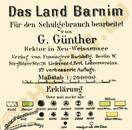 Pharus-Plan Das Land Barnim 1910 Legende