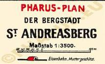 Pharus-Plan St. Andreasberg 1924 Legende