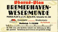 Pharus-Plan Bremerhaven 1936 Legende