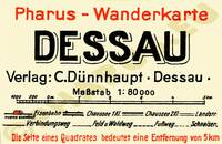Pharus-Plan Dessau 1934 Legende