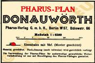 Pharus-Plan Donauwörth 1930 Legende