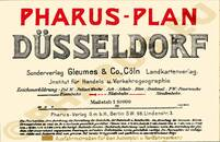 Pharus-Plan Düsseldorf 1923 Legende