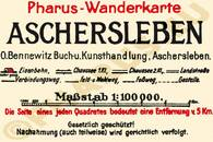 Pharus-Plan Aschersleben 1922 Legende