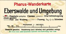 Pharus-Plan Eberswalde 1923 Legende