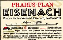 Pharus-Plan Eisenach 1929 Legende