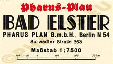 Pharus-Plan Elster, Bad 1938 Legende