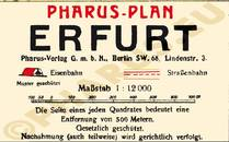Pharus-Plan Erfurt 1920 Legende