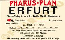 Pharus-Plan Erfurt 1918 Legende