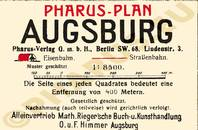 Pharus-Plan Augsburg 1920 Legende