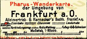 Pharus-Plan Frankfurt (Oder) 1925 Legende