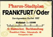 Pharus-Plan Frankfurt (Oder) 1927 Legende