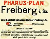 Pharus-Plan Freiberg 1925 Legende