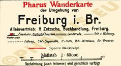 Pharus-Plan Freiburg 1924 Legende