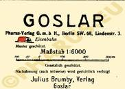 Pharus-Plan Goslar 1922 Legende