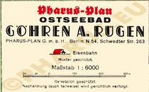 Pharus-Plan Göhren 1936 Legende