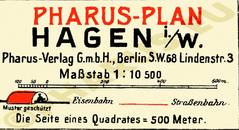Pharus-Plan Hagen 1920 Legende