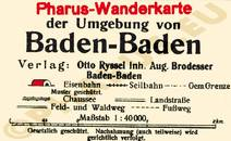 Pharus-Plan Baden Baden 1925 Legende